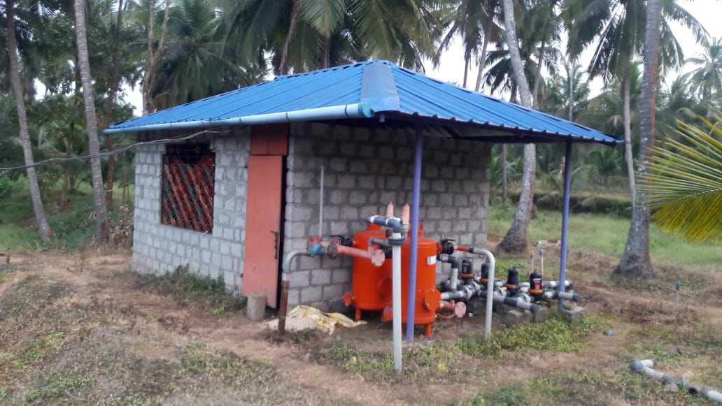 Coconut farm land with a house for sale in Palakkad Kozhinjampara Kerala